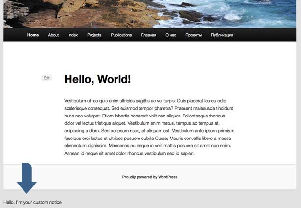 Создание плагина для WordPress