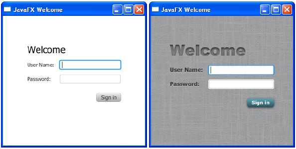 JavaFX CSS формы