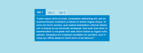 Закладки с помощью CSS